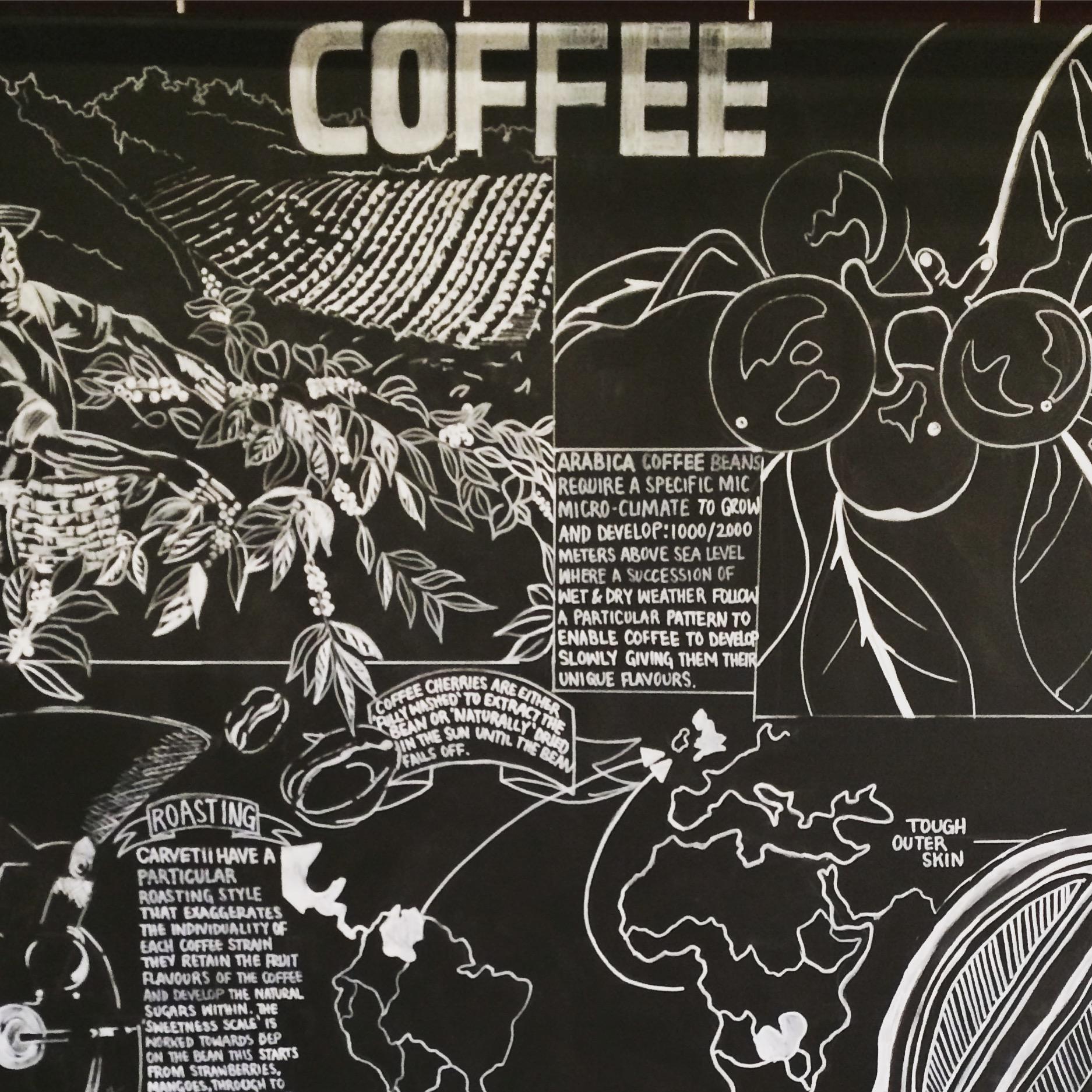 Coffee Wall Display: Taste, Rheged Centre via @carvetiicoffee