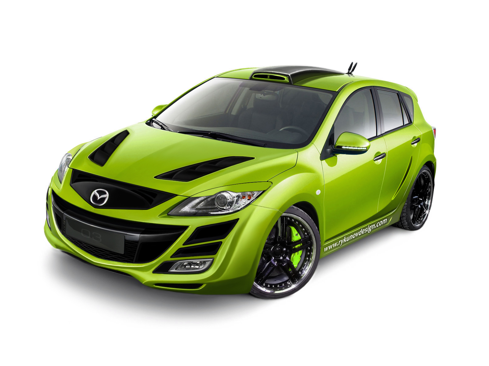 Mazda Green 6 Car Desktop Wallpaper
