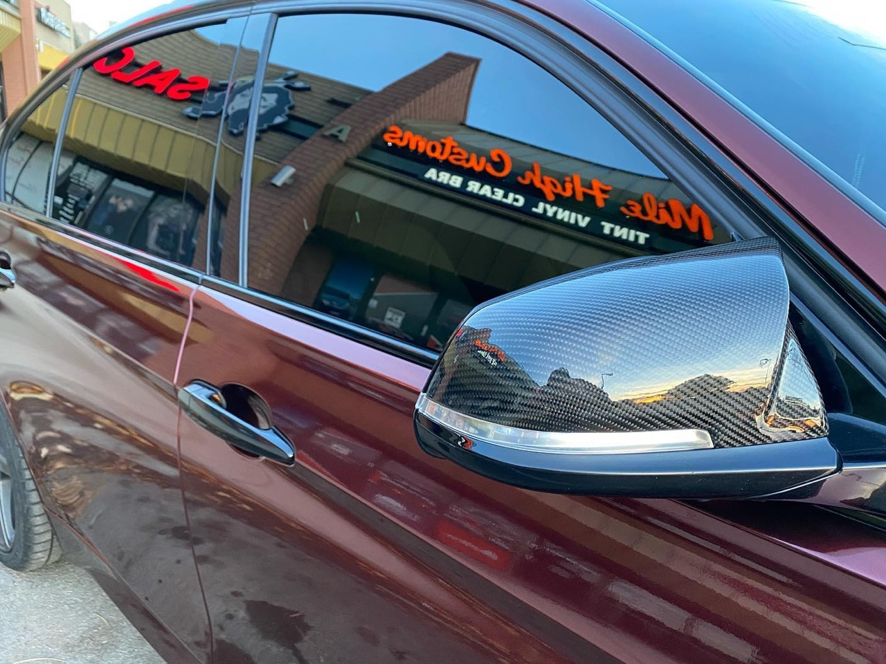 BMW 335i window tinting side view