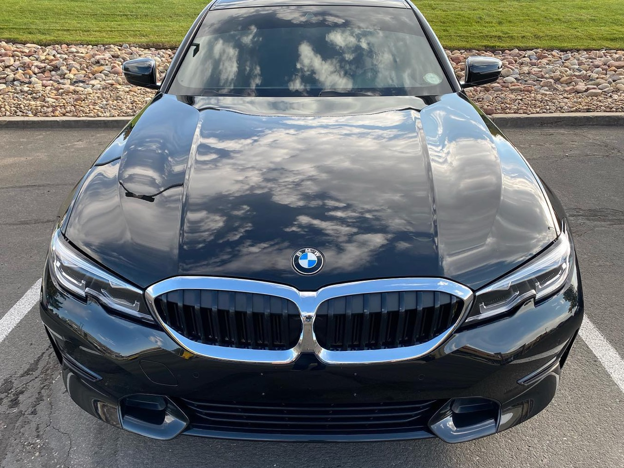 BMW 3-Series window tinting front view