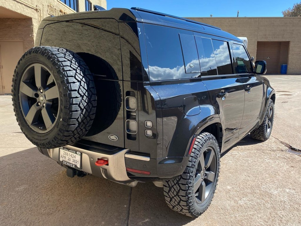 Land Rover Defender window tinting back view