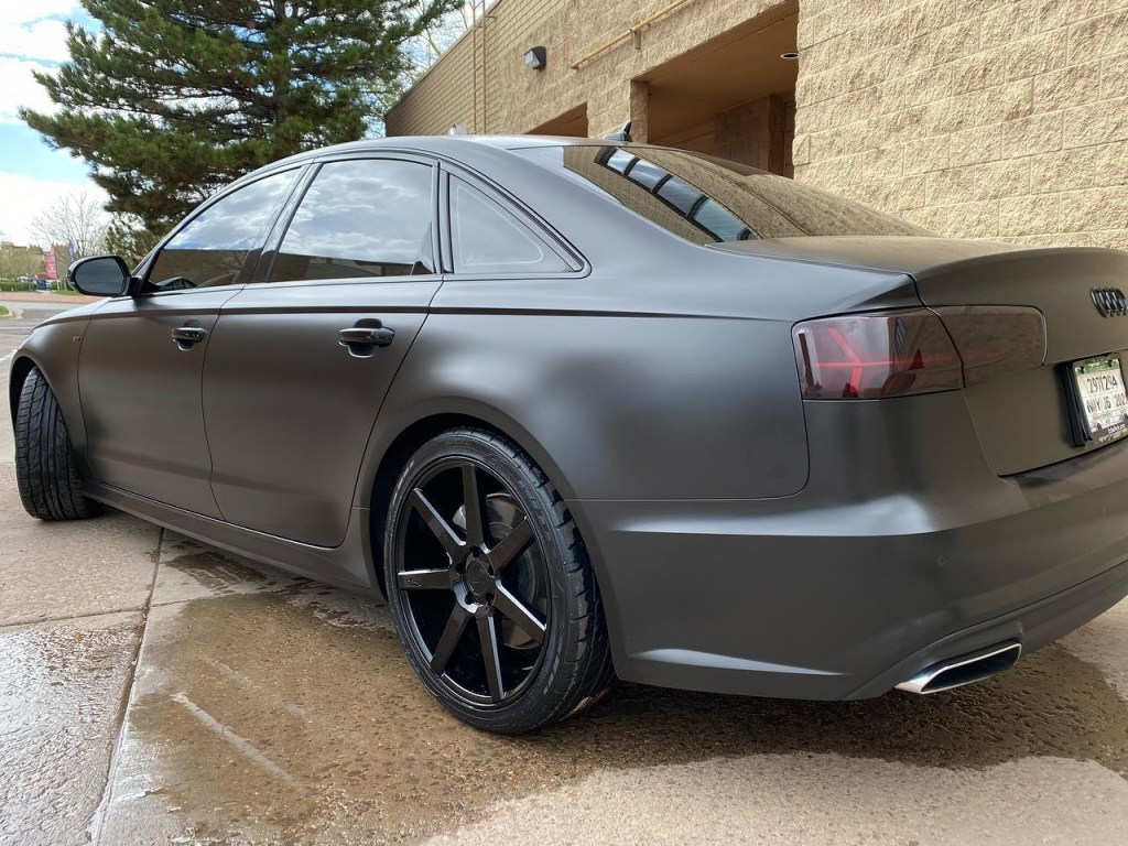 Audi A6 window tint side view