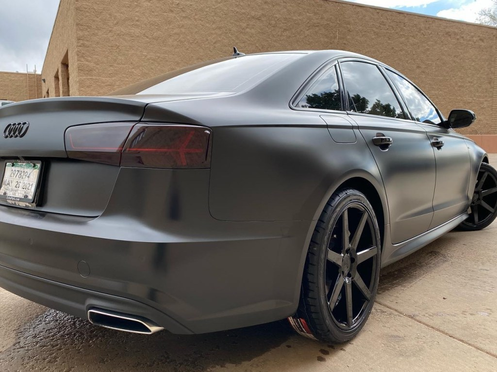Audi A6 tinted windows back view