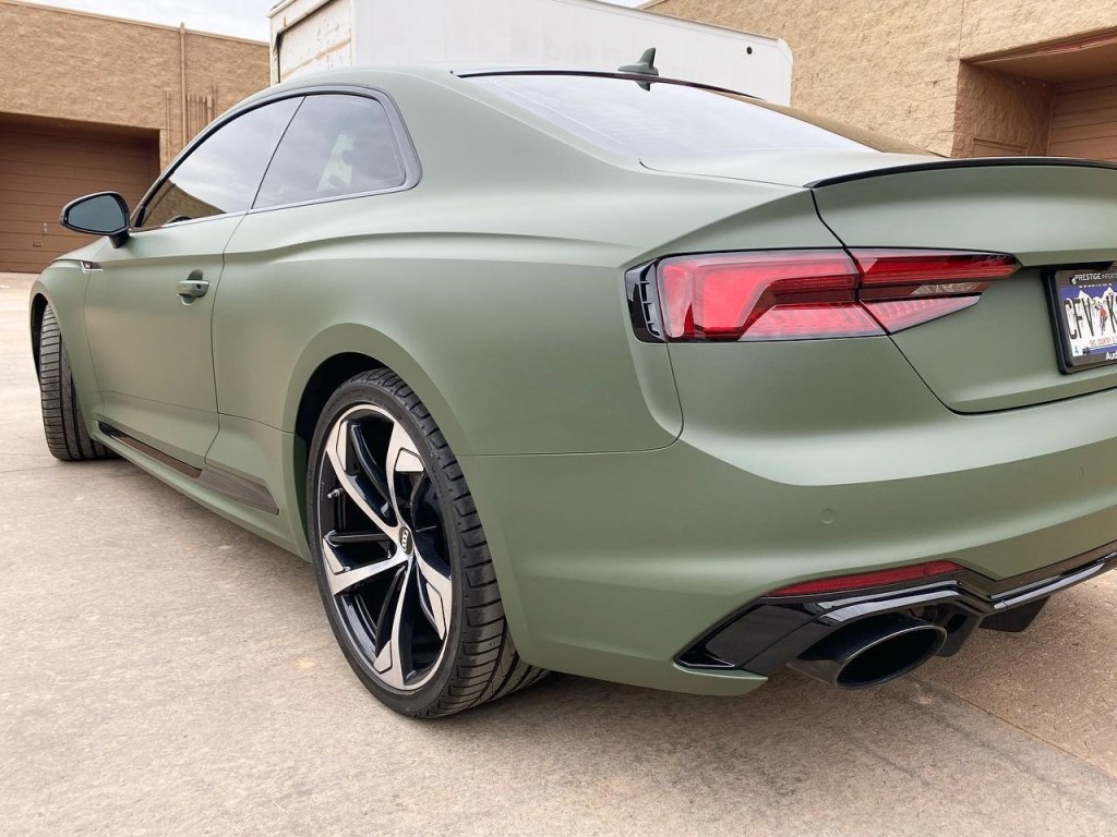 Audi RS5 tinted windows back view