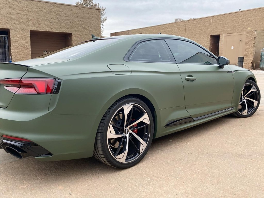 Audi RS5 window tinting side view