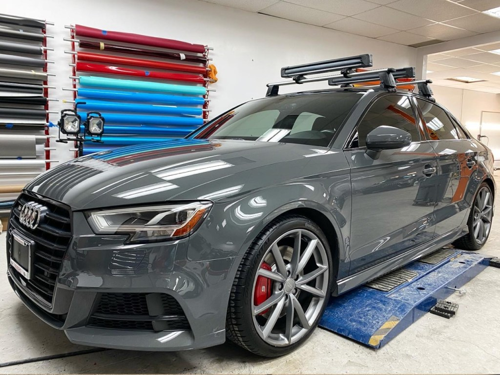 Audi S3 tinted window front view