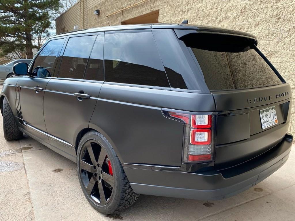 Range Rover window tint back view