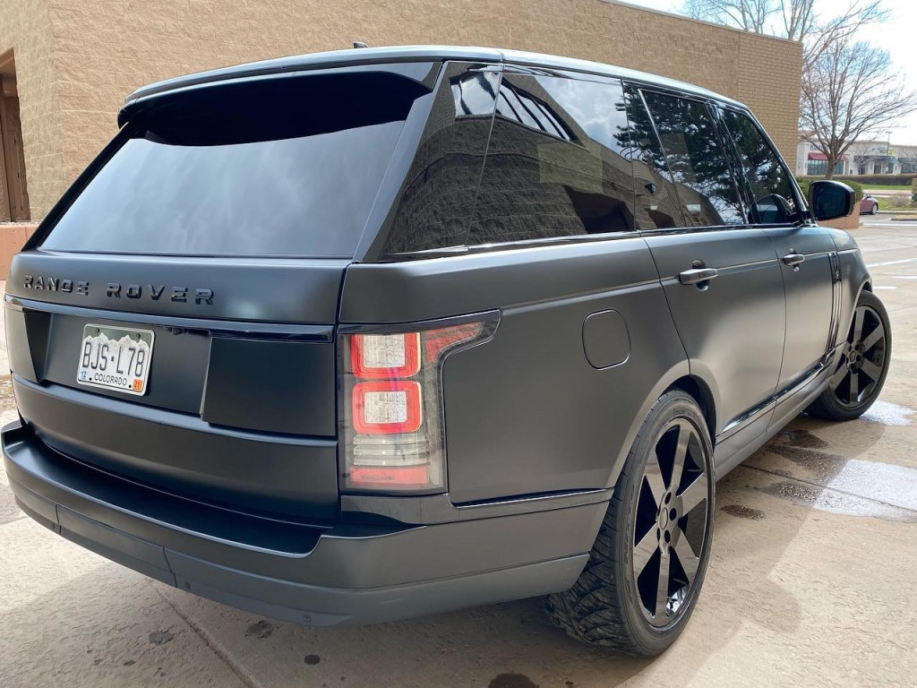 Range Rover tinted windows back view