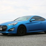 Hyundai Genesis Coupe Matte Metallic Blue Color Change Wrap Car Wrap City