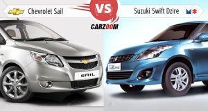 Chevrolet Sail vs Maruti Suzuki Swift Dzire