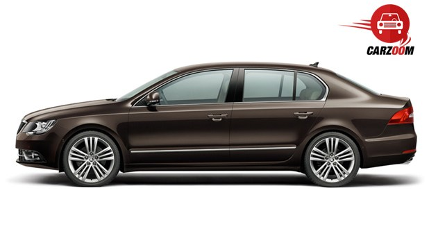 Auto Expo 2014 New SKODA Superb Exteriors Side View