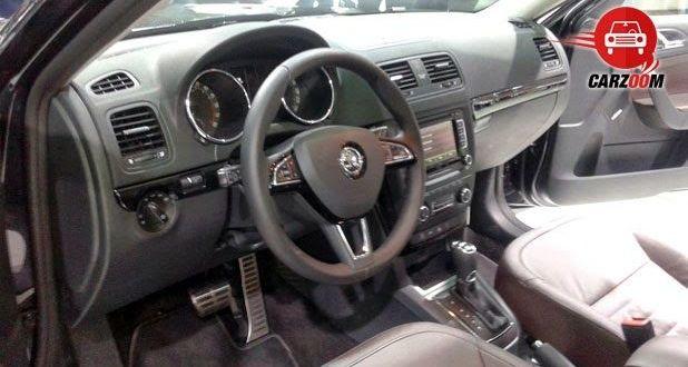 Auto Expo 2014 New Skoda Yeti Interiors Dashboard
