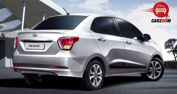 Hyundai Xcent Exteriors Back View
