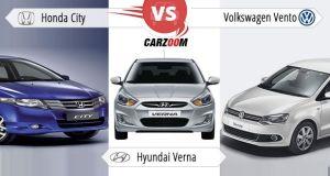 Honda City vs Hyundai Verna vs Volkswagen Vento