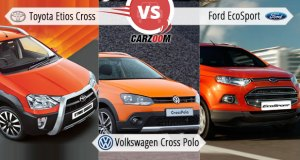 Toyota Etios Cross vs Ford EcoSport vs Volkswagen Cross Polo
