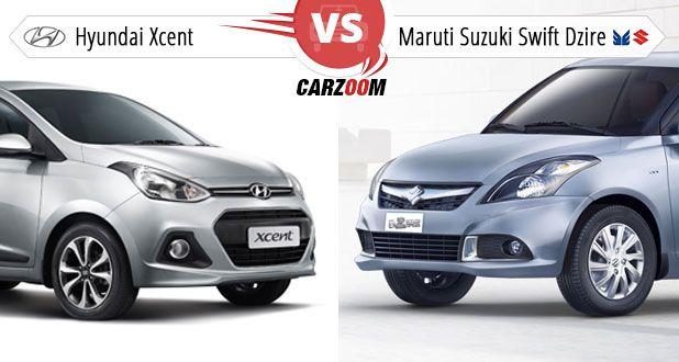 Hyundai Xcent vs Maruti Swift Dzire