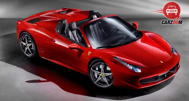 Ferrari 458 Spider Exterior Front and Side View