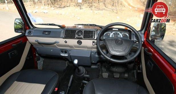 Force Gurkha Interior Dashboard