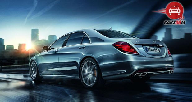 Mercedes Benz S 63 AMG Sedan Exterior Back and Side View