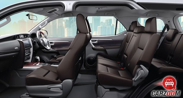 New Toyota Fortuner Seats