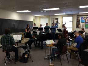 Actors Rehearse for a musical in the Acting Lab