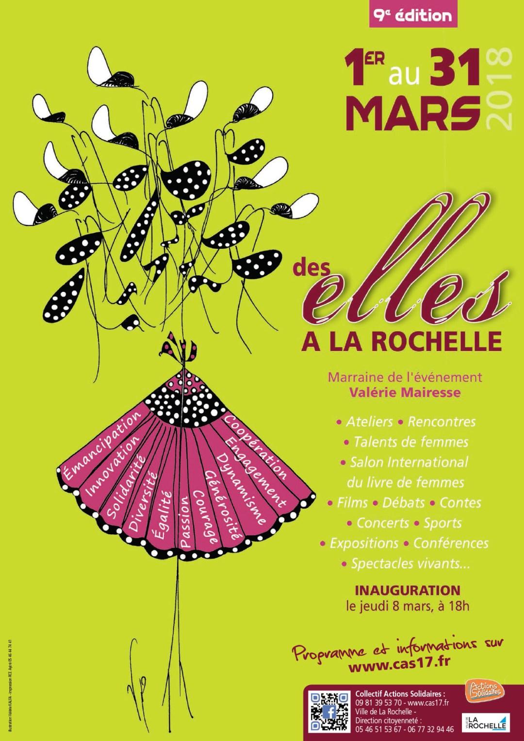 Affiche Des ELLES à La Rochelle 2018