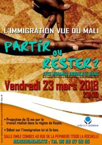 Partir ou rester ? L'immigration vue du Mali @ Salle Emile Combes   La Rochelle   Nouvelle-Aquitaine   France