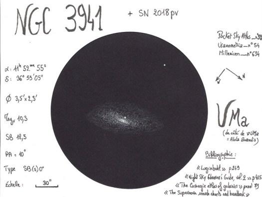 NGC 3941 & supernova