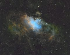 M16 en SHO 3nm - TSQ 65mm quadruplet apo f6.5 pose 3x5mn - Thomas Frisch