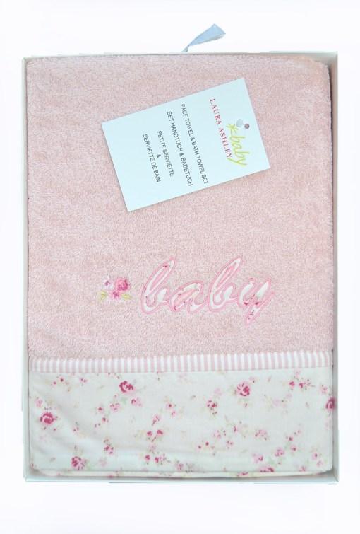 πετσέτες_βρεφικές_σετ_laura_ashley_baby_roses