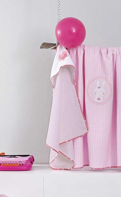βρεφικη-πετσετα-κουκουλα-καπα-cutie-nima-pink-2