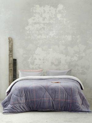 Κουβερτοπάπλωμα Μονό 150x220 NIMA Tailor Grey