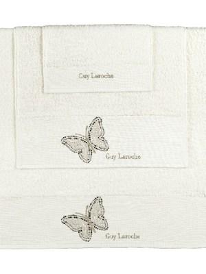 Πετσέτες Σετ 3 Τεμαχίων Guy Laroche Primavera Ivory