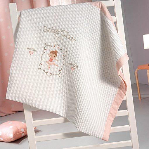 Πικέ-Κουβέρτα-Κούνιας-110×150-SAINT-CLAIR-ballerina