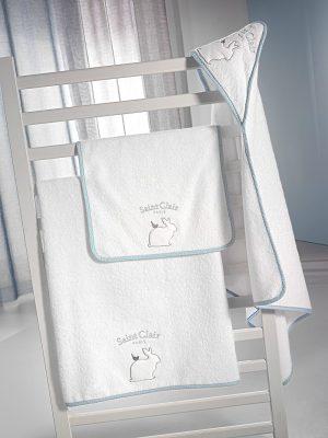 Σετ Βρεφικές Πετσέτες 2 τμχ με Κέντημα SAINT CLAIR Lapin Blue