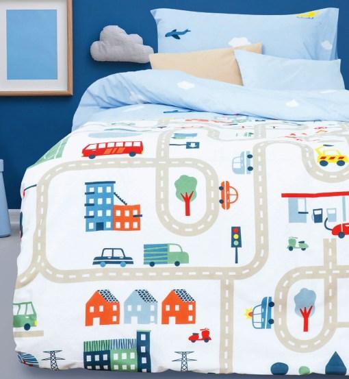Κουβερλί Παιδικό Σετ 160x220 BOREA Δρόμος Π-11