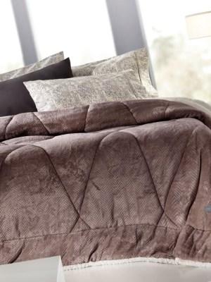 Κουβερτοπάπλωμα Μονό Sherpa 160x220 Guy Laroche Mystique Cocoa