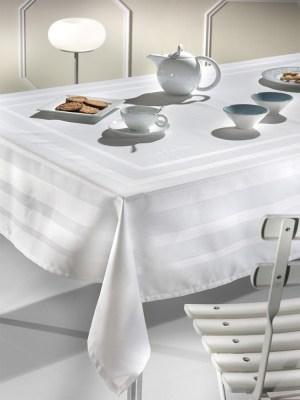 Τραπεζομάντηλο 160x330 +12 Πετσέτες Guy Laroche Corner White