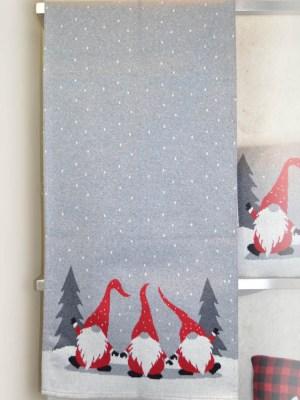 Τραβέρσα Χριστουγεννιάτικη Πλεκτή 45x150 Dwarfs