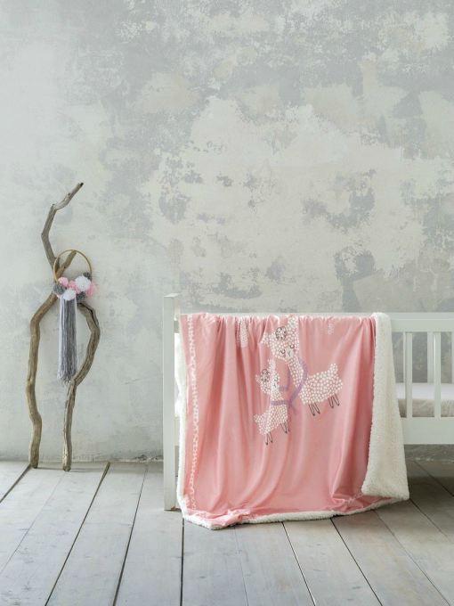 κουβέρτα-κούνιας-110×140-nima-llama-love
