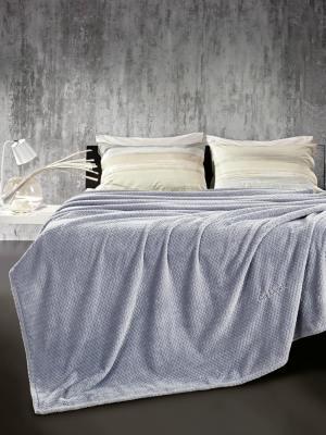 Κουβέρτα Βελούδινη Μονή 160x220 Guy Laroche Rombus Sky