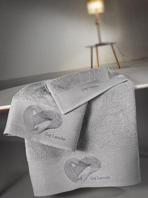 Πετσέτες Σετ 3 τεμαχίων Guy Laroche Alora Silver