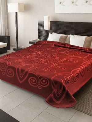 Belpla Βελούδινη Κουβέρτα Υπέρδιπλη Ισπανίας 220x240 Ster 516 Granate 16