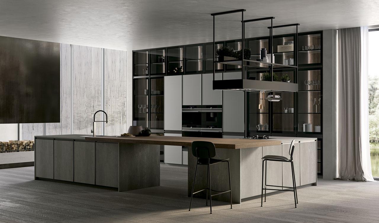 Modern Kitchen Arredo3 Kronos Model 6