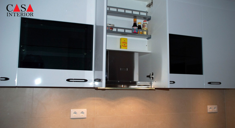 Küchentime Flash Alpine White High Gloss Alfaz del Pi - Extractor Wall Unit