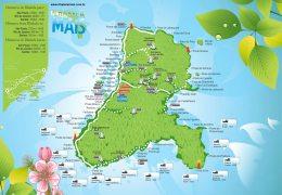 Mapa das praias de Ilhabela