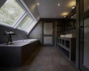 Obras com microcimento casa de banho