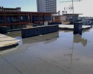 Teste para impermeabilização de terraços