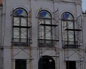 Trabalhos para reabilitação de edifício