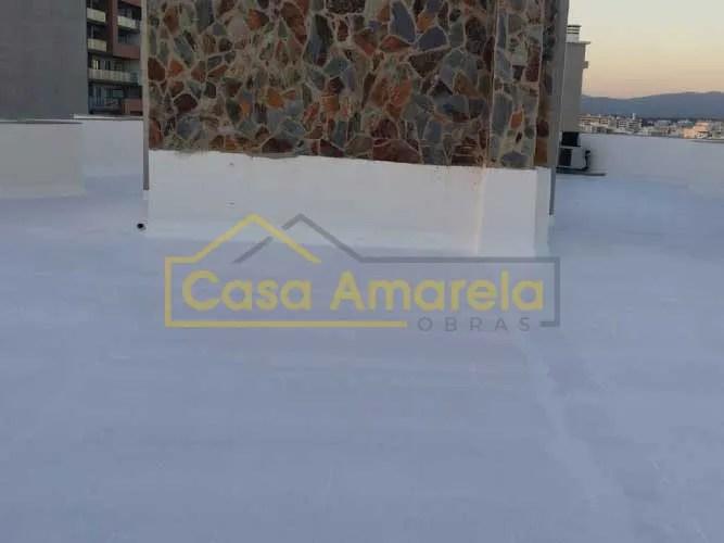 Impermeabilização de cobertura e parede de pedra